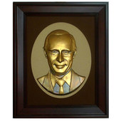 Putin bronze statue