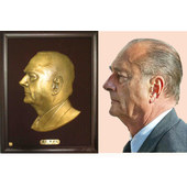 Chirac copper statue