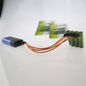 Micro USB rechargeable battery