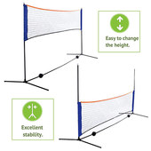 Portable Badminton Net Suit for Outdoor Indoor Training with PE NET Iron Tube