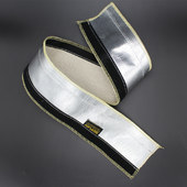 Automotive aluminized fiberglass heat reflective sleeve