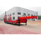 Three-axle low flatbed semitrailer