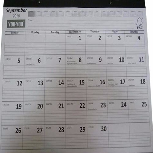 Cheap Wholesale Custom Stand-Up Desk Calendar with Personalised Design CZADS09