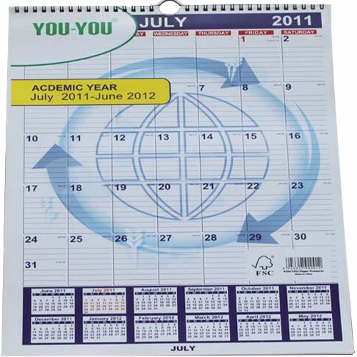 Cheap Custom Personalised Photo/Poster Wall Calendar for Family or Office CZADS10