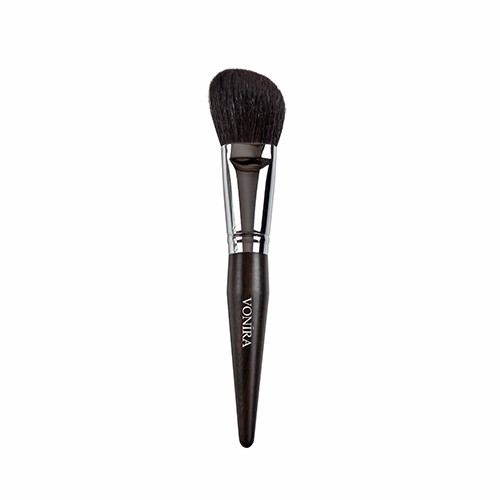 Luxury Beveled powder makeup brush with Amazing soft And Dense Dark Brown XGF Goat Hair CSXM03