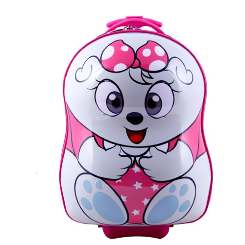 SMJM 12 Inch ABS Hard Side Cartoon Kids Luggage Small Trolley Case with Wheels for Girls and Boys CSSMJM13