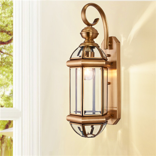 CJB WC-1W European-style all-copper Outdoor Wall Lamp CSCJB10