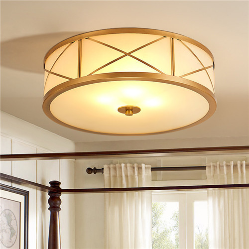 CJB XBD9033-350 Modern Austere European Style Copper Craft Ceiling Lamp CSCJB16
