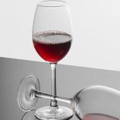 Elegant decanter and wine glass